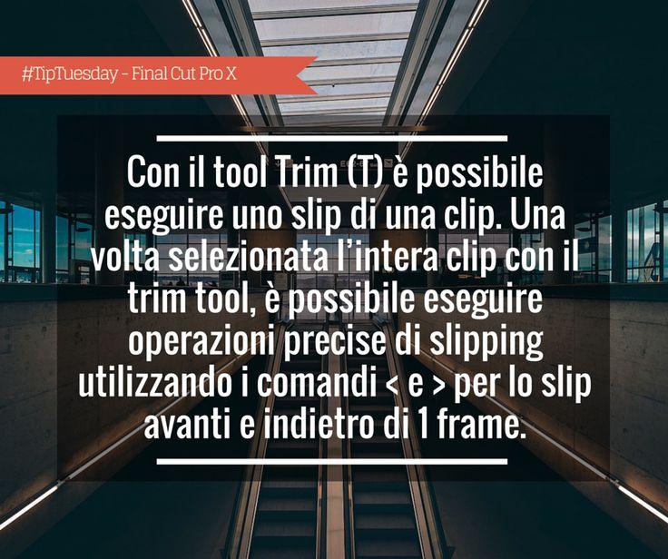 Giorgio Lovecchio: con il tool Trim (T) è possibile eseguire uno slip di una clip. Una volta selezionata l'intera clip con il trim tool, è possibile eseguire operazioni precise di slipping utilizzando i comandi < e > per lo slip avanti e indietro di un frame.