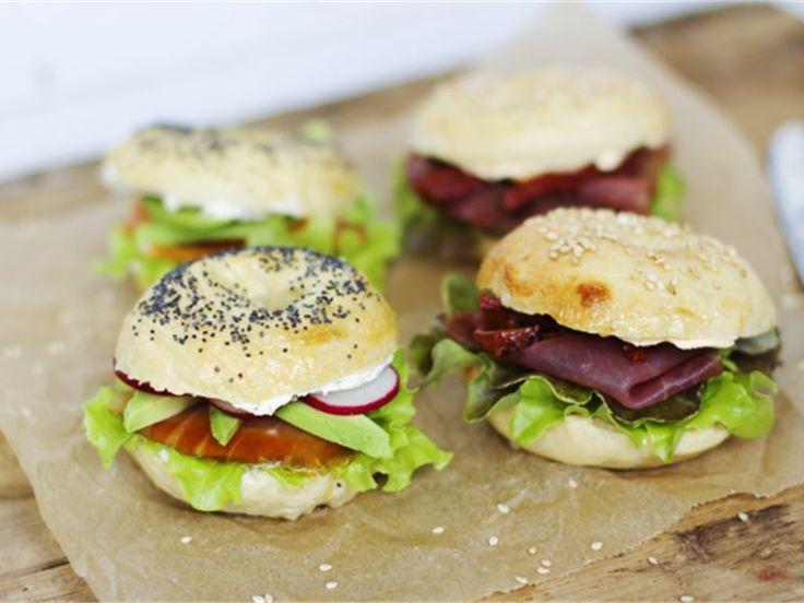 Evääksi piknikille: itse tehdyt mini-bagelit
