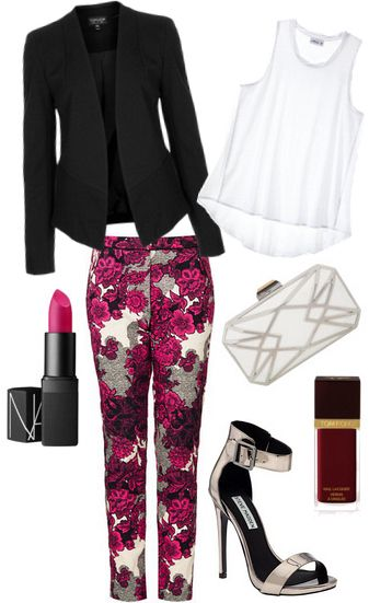 How to wear printed trousers on a night out