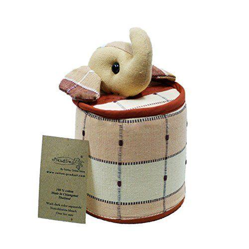Elephant Tissue Holder Case (Brownish) Handwoven Cotton Handmade From Thailand Lanna Handmade http://www.amazon.com/dp/B00O2R4AJE/ref=cm_sw_r_pi_dp_Avclub1J55E6F