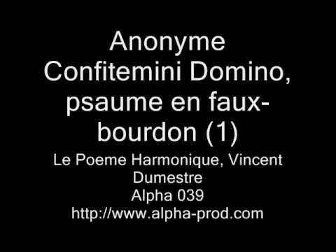Anonyme - Confitemini Domino (1) - Le Poeme Harmonique, Vincent Dumestre (1610 Nova Metamorphosi)