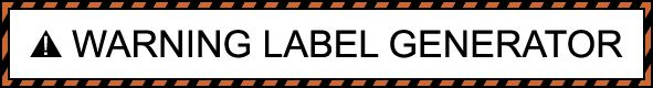This site allows you to generate warning labels.  Great for student notebooks.