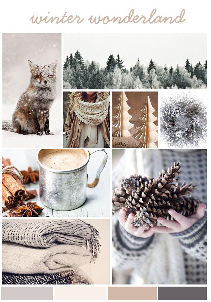 #Moodboard: Winter Wonderland by www.creatively-driven.com