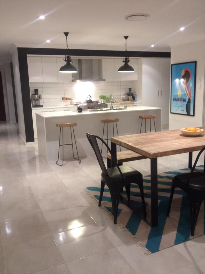 [Student Interior of the Week] Amanda Pusztai, Student at IDI has designed this gorgeous open kitchen and dining room within her home. Keep up the fantastic work Amanda!