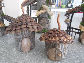 Fancilicious Fairylands: Welcome to Woodland Fairy Village! / make into a bird house