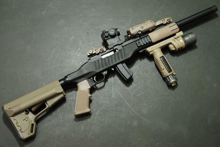 Tactical 10/22.  Awesome varmint setup