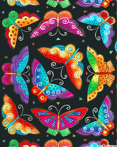 'Flying Colors II' collection, by Laurel Burch for Clothworks.