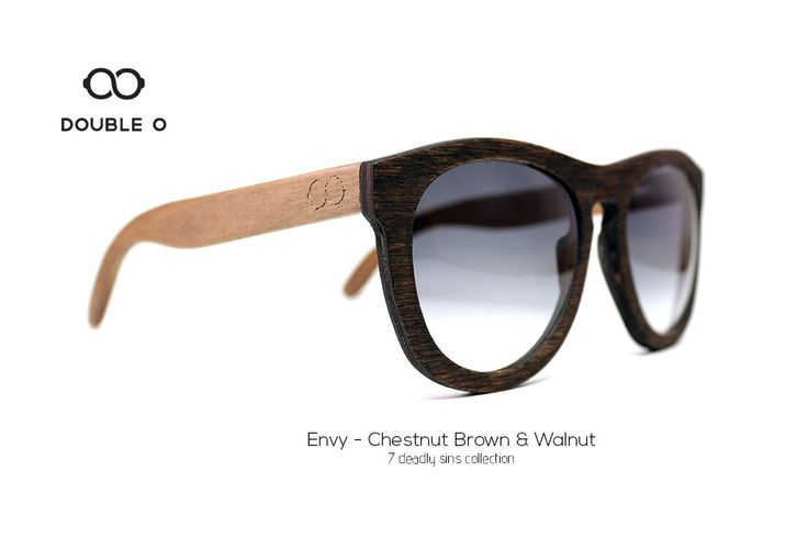 Envy - Chestnut Brown & Walnut / Handmade Wooden Sunglasses / Made in Crete,Greece