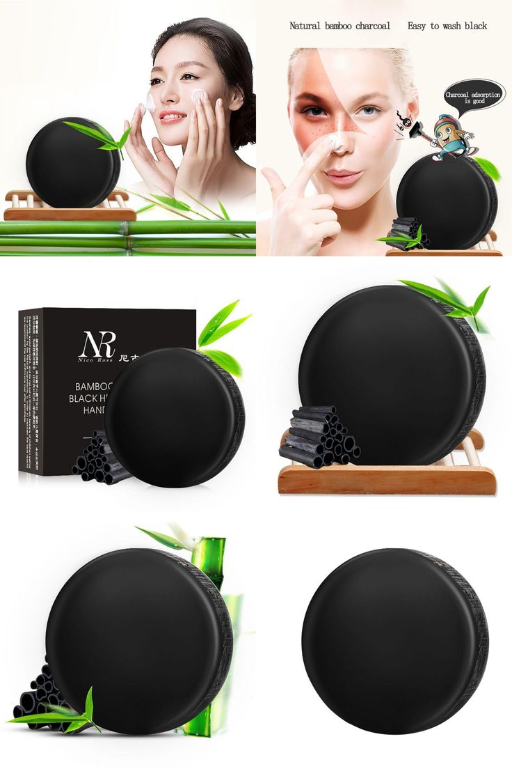 [Visit to Buy] Useful Handmade Bamboo Charcoal Soap Treatment Skin Care Natural Skin Whitening Soap Blackhead Remover Treatments #Advertisement
