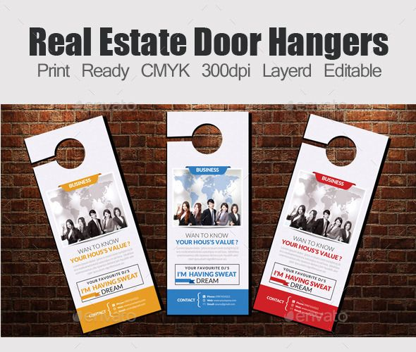 Best Door Hanger Templates Images On