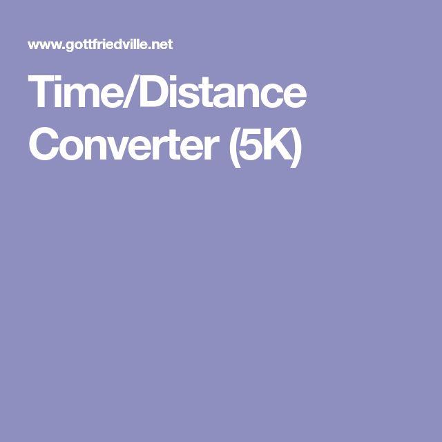 Time/Distance Converter (5K)