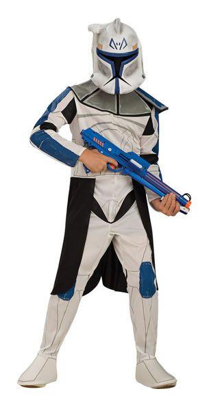 Lasten Naamiaisasu; Clone Trooper Captain Rex  Lisensoitu Star Wars Clone Trooper Captain Rex asu. Olkoon voima kanssasi. #naamiaismaailma