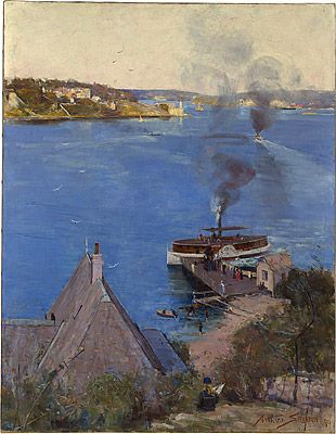 Arthur STREETON, From McMahon's Point - fare one penny
