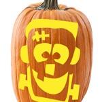 My Frankenstein Pumpkin - Great site for pumpkin stencils!
