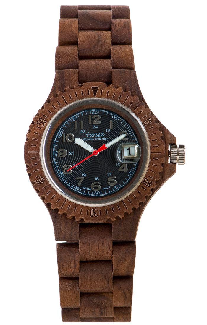 Tense Men's Compass Watch in American Walnut - $145 at tensewatch.com.
