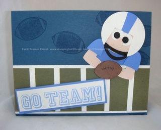 Stampin' Up!  Football Punch Art  Fairle Carroll