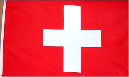 """Switzerland National Country Flag - 3 foot by 5 foot Polyester (New) by Country Flags """"S-T"""". $4.99. Express International Shipping is Global Express Mail (2-3 days). Express Domestic Shipping is OVERNITE 98% of the time, otherwise 2-day.. 2 Metal Grommets For Eash Mounting with Canvas Hem for long lasting strength. 3 Foot by 5 Foot, Indoor-Outdoor, Lightweight Polyester Flag with Sharp Vivd Colors. FAST SHIPPER: Ships in 1 Business Day; usually the Same Day if pmnt clears ..."""
