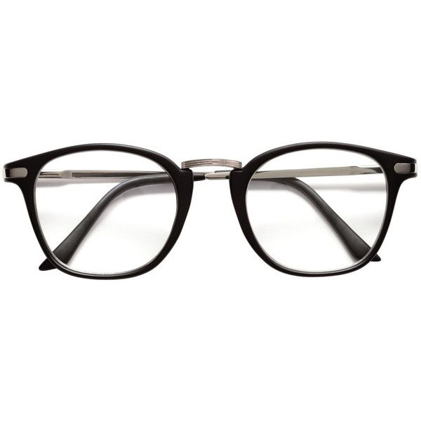 Glasses $9.99 ($9.99) ❤ liked on Polyvore featuring accessories, eyewear, eyeglasses, clear glasses, clear eye glasses, metal frame glasses, clear eyewear and clear plastic eyeglasses