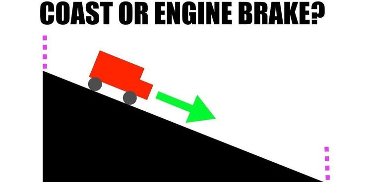 Is Engine Braking More Efficient than Coasting?