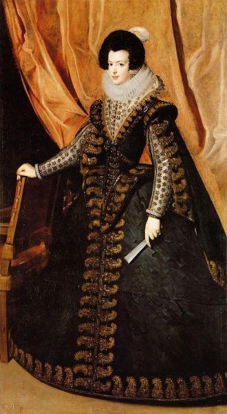 Queen Isabel, Standing - Diego Velazquez