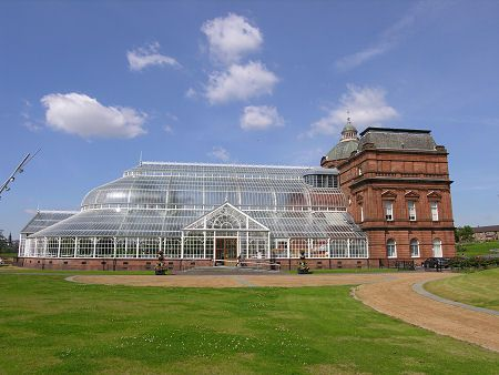 The Peoples Palace and Winter Gardens from the South East - Glasgow, Scotland