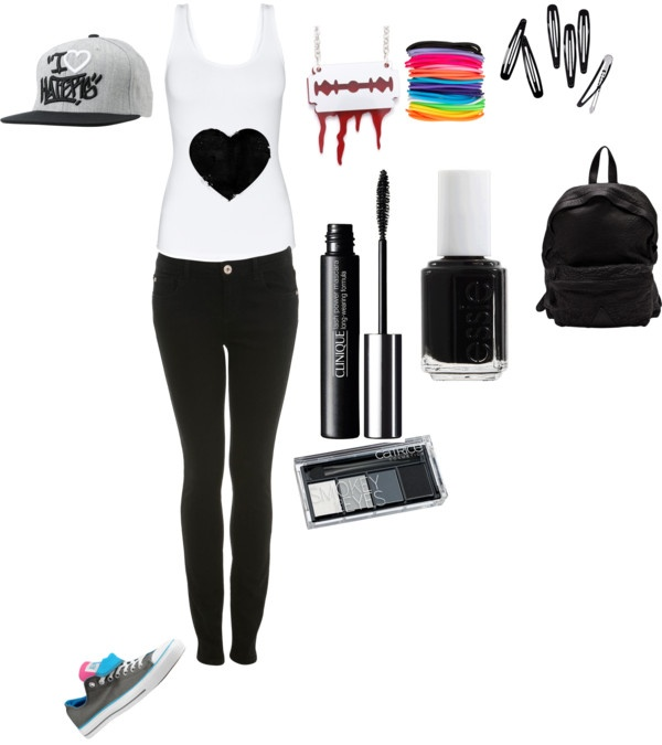 """Skater Outfit ONE"" by slytheringirl2013 ❤ liked on Polyvore"