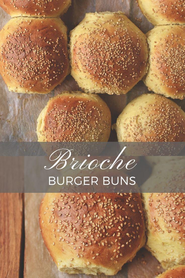 Brioche Burger Buns - die perfekten Burger Brötchen für jeden Anlass!