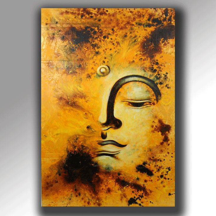 """Abstract Buddha (36"""" x 48"""") from CoHabitat, $150"""