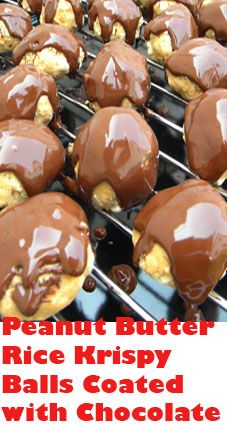 Now these peanut butter balls are heavenly delicious! The best combo ever - peanut butter and chocolate.  They look divine, don't they? And they taste even better.