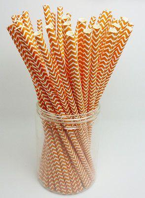 Papieren rietjes Donker oranje Chevron €3,50 http://maisonmansion.com/product/mason-jar-papieren-rietjes-donker-oranje-chevron/