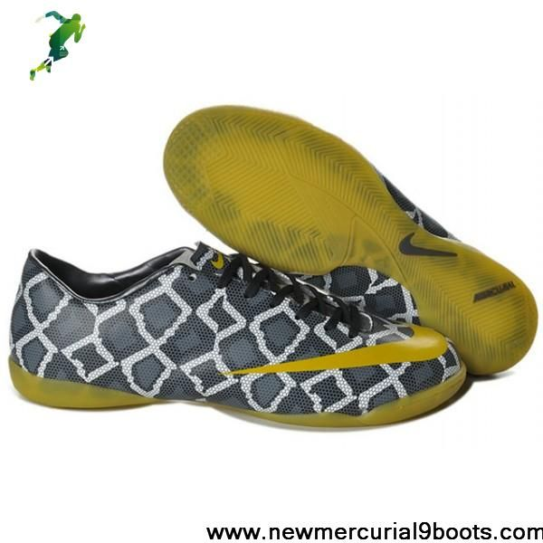 Latest Listing Cheap Nike Mercurial Victory IV IC Indoor Futsal Sneakeskin Yellow Soccer Boots For Sale