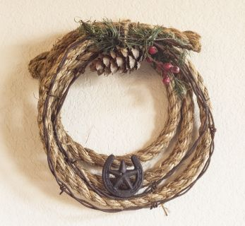 how to make rope wreath with wire ring