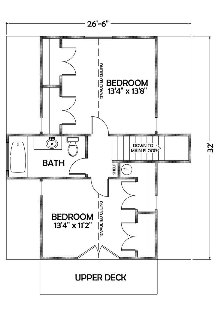 Second floor adirondack architecture cabin plan 2 for Adirondack floor plans