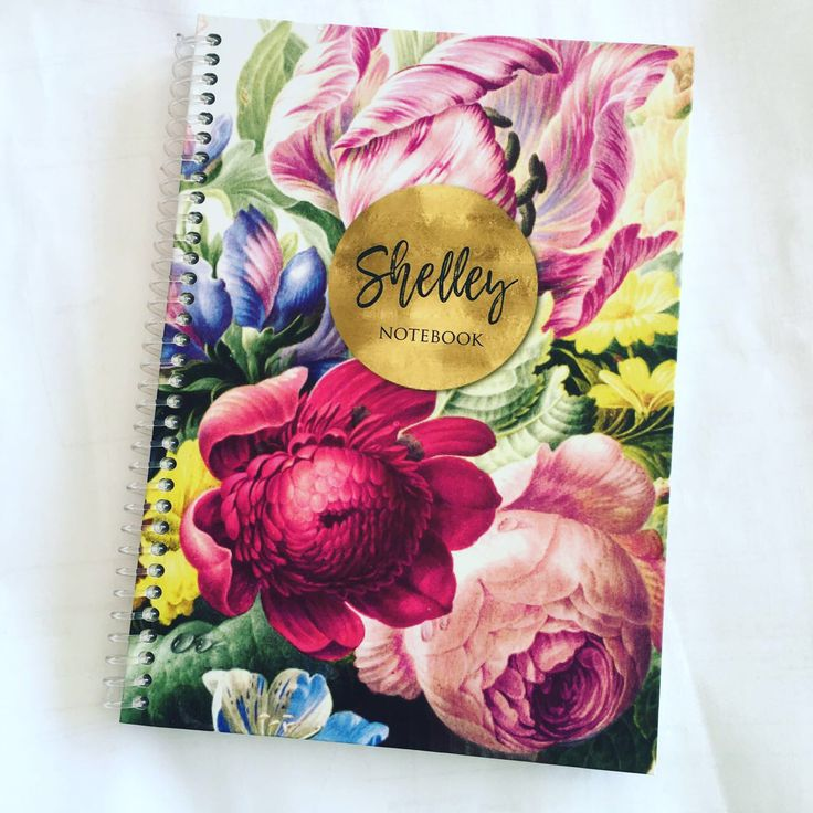 In bloom personalized note journal from macaroon.co.za