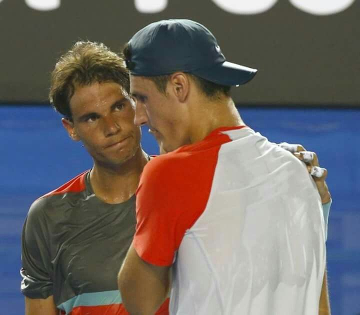Rafa Nadal is going to team up with Bernard Tomic in the men's doubles at the Indian Wells Masters.  https://twitter.com/ATPMediaInfo/status/833808053904478208/photo/1