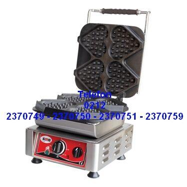Elektrikle çalışan kalp şekilli waffle yapma makinesinin en ucuz fiyatlarıyla satış telefonu 0212 2370749