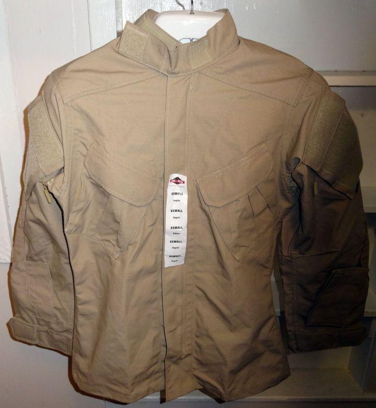 Nwt Mens Tru-Spec Tactical Response Xtreme Uniform Shirt - Khaki Xtra small. #TruSpec #FullZipTacticalResponseShirt