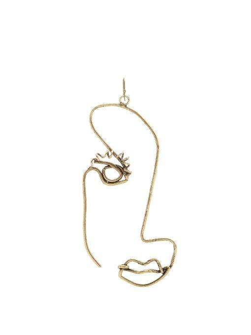 Rosie Assoulin Half face-drop earring