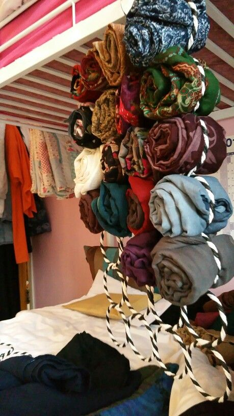 How I've started to organise my Hijabs! Scarf Hangers available for £7.50!