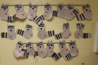 The Kissing Hand/Chester the Raccoon activity for the first week of K