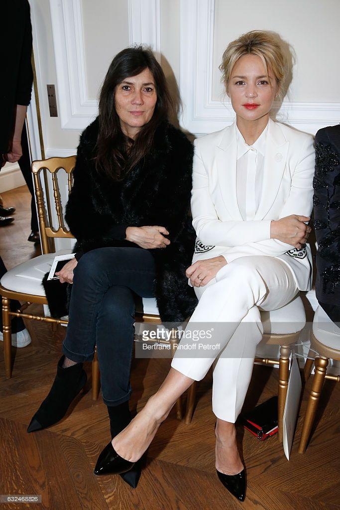 Photo d'actualité : Emmanuelle Alt and Virginie Efira attend the...