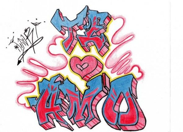 39 mejores imgenes de Graffitis de Amor en Pinterest  Graffitis