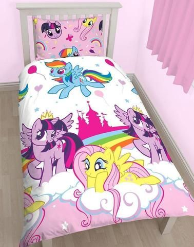 MY LITTLE PONY ~ 'Equestria' Single Bed Reversible Quilt Set