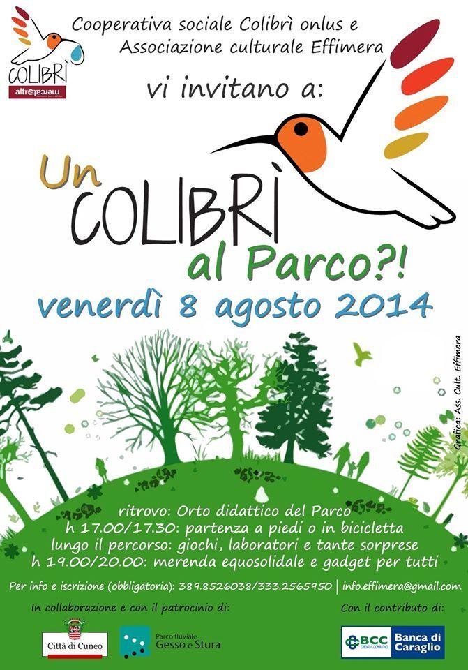 Venerdì 8 agosto un colibrì al parco