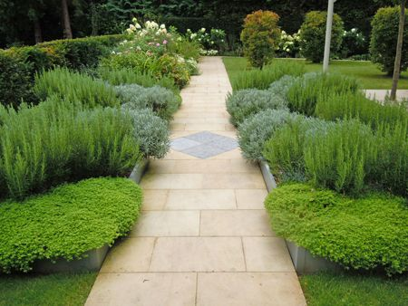 Contemporary Herb Garden By Richard Miers Www.richardmiersgardendesign.com