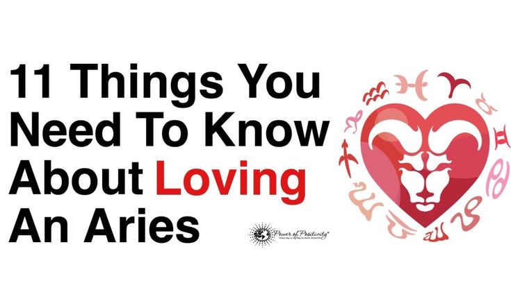 things to know when dating an aries 8 things to know if you love an aries facebook  as long as you trust their judgment, dating an aries can open the doors to many new experiences 6.