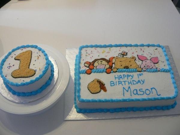 winnie the pooh cake plus smash cake