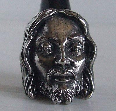 Stainless Jesus Christ Ring Custom Size Handmade Religious God Prayer R-30ss