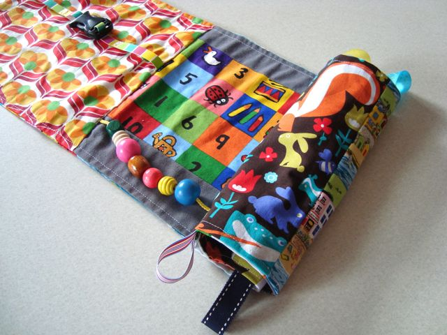 My creative space: a roll up busy book  And it was easy and it is oh so cute!