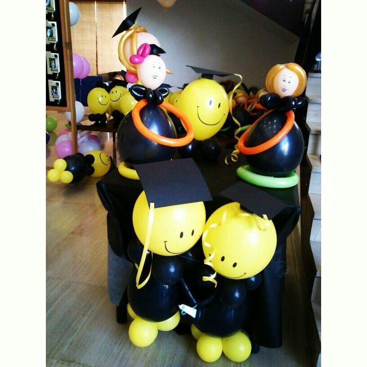 118 best balloon graduation decor images on pinterest for Balloon decoration graduation